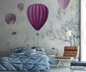 balloons, bedroom, and interior design image