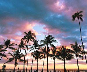 sky, beach, and blue image