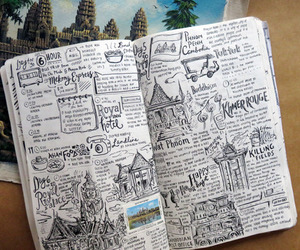 travel, art, and journal image