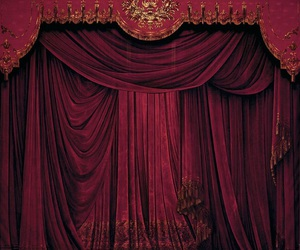 curtain and red image