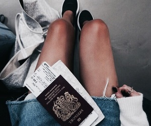 fashion, travel, and passport image