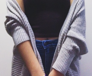 body, cardigan, and casual image