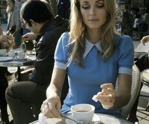 sharon tate, vintage, and coffee image