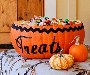 candy, Halloween, and pumpkin image