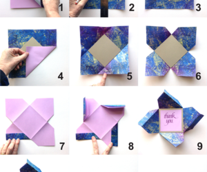 card, Letter, and origami image