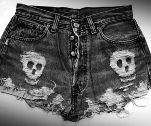 skull, shorts, and short image