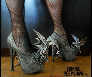 dragon, heels, and spikes image
