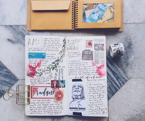 creative, flower, and journal image