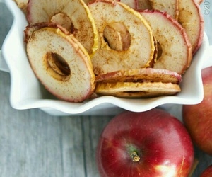 apple, chips, and Cinnamon image