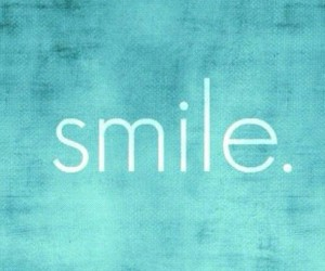 smile, blue, and quotes image