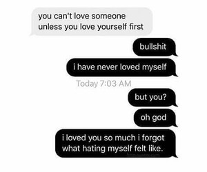 love, quotes, and message image