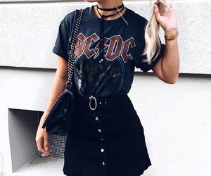 ACDC, bag, and clothes image