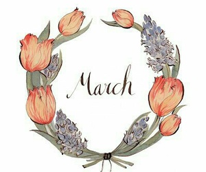 march, flowers, and spring image