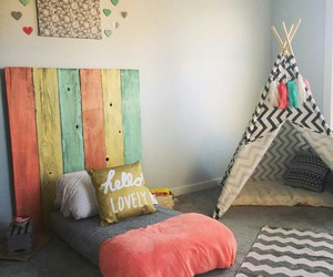 decor, kids room, and room image