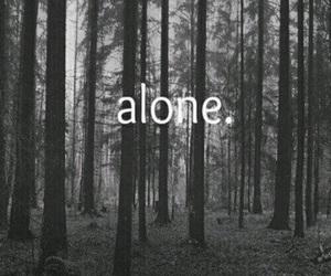alone, dark, and pic image