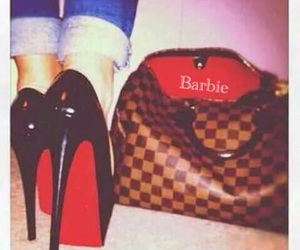 bag, girl, and louboutin image