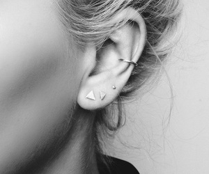 black and white, ear, and glamour image