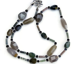 etsy, statement necklace, and earthy colors image