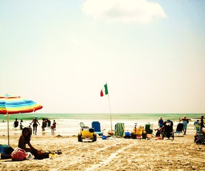beach, flag, and summer image