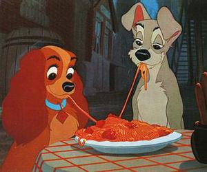 disney, lady and the tramp, and dog image