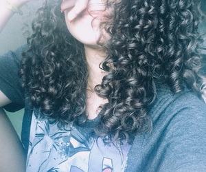 curls, curly girl, and curly image