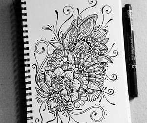art, mandala, and draw image
