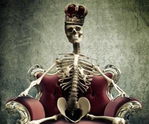 king, skeleton, and skull image