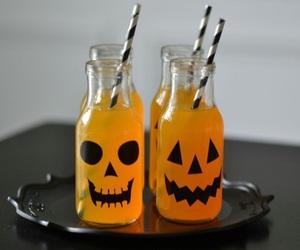 Halloween, pumpkin, and drink image