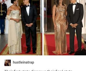 aww, michelle obama, and barack obama image