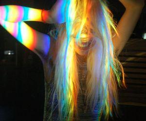 girl, grunge, and rainbow image