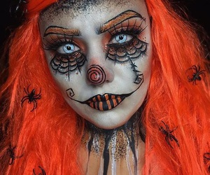 beauty, makeup, and clown image