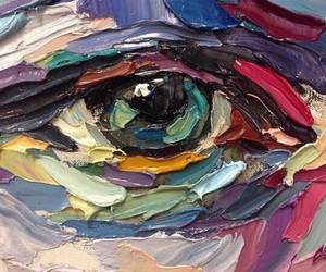 art, eye, and paint image