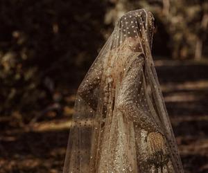 bride, dress, and saree image