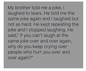sad, brother, and quote image