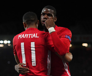 manchester united, martial, and pogba image
