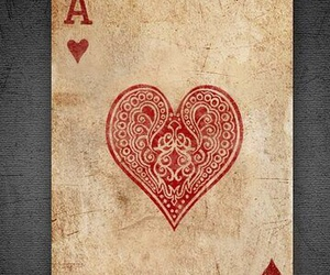 ace, heart, and girl image