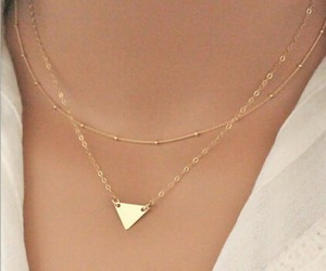 gold, small, and nacklace image