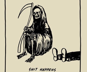 death, shit happens, and drawing image