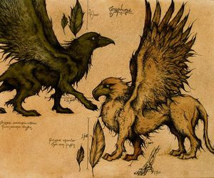 griffin, hogwarts, and magical image