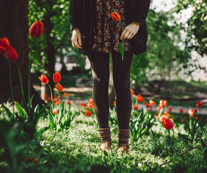 flowers, spring, and floral skirt image