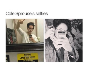 boy, cole sprouse, and selfie image