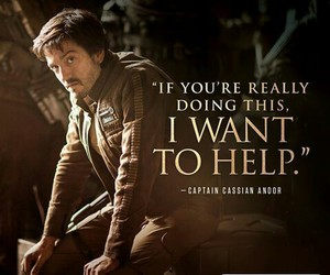 star wars, captain cassian andor, and rogue one image
