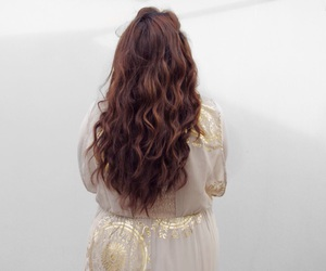 auburn, curls, and curly hair image