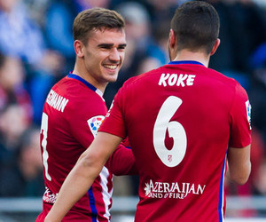 koke, atletico madrid, and griezmann image