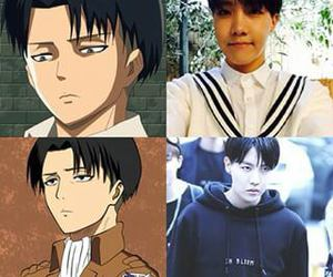 funny, levi, and jhope image