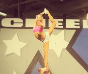 cheer, cheerleader, and pink image