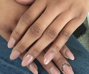 acrylic, nails, and Nude image