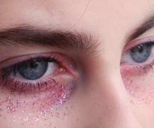 eyes, pink, and grunge image