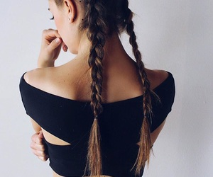 braids, style, and summer image