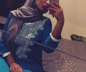 blue, dress, and hijab image